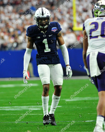 DB Christian Campbell #1 of Penn State during the Playstation Fiesta Bowl college NCAA Football game between the Washington Huskies and the Penn State Nittany Lions at University of Phoenix Stadium in Glendale, AZ