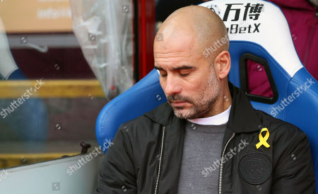 Manchester City manager Josep Pep Guardiola shuts his eyes