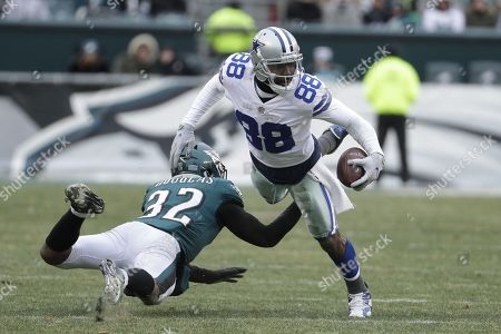 Dez Bryant, Rasul Douglas. Dallas Cowboys' Dez Bryant, right, is tackled by Philadelphia Eagles' Rasul Douglas during the second half of an NFL football game, in Philadelphia