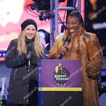 Allison Hagendorf, Tarana Burke. Television personality Allison Hagendorf, left, and activist Tarana Burke speak on stage at the New Year's Eve celebration in Times Square, in New York