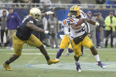 Editorial picture of NCAA Football Citrus Bowl presented by Overton Notre Dame vs LSU, Orlando, USA - 01 Jan 2018