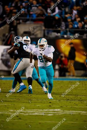 Miami Dolphins tight end Julius Thomas (89) in action against the Carolina Panthers during an NFL game in Charlotte, N.C. on