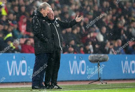 Crystal Palace Manager Roy Hodgson and Assistant Ray Lewington.