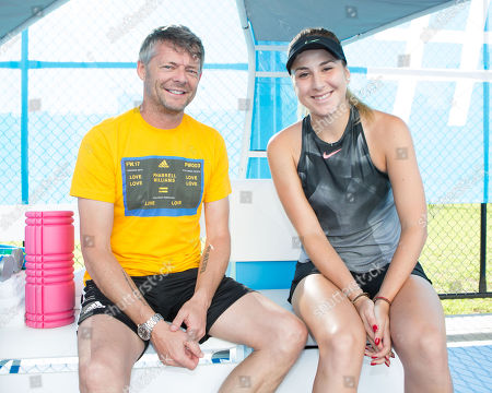 Belinda Bencic and trainer Ian Hughes