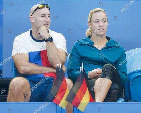 Trainer Jez Green and Angelique Kerber