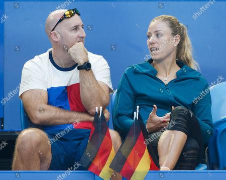 Fitness Trainer Jez Green and Angelique Kerber