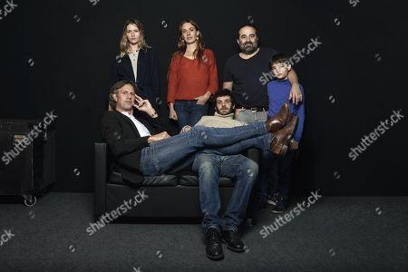 Stock Photo of 'Les Gardiennes' photocall - Christa Theret, Felix Moati, Laetitia Dosch, Johan Heldenbergh, Antony Cordier et Ferdinand Cordier