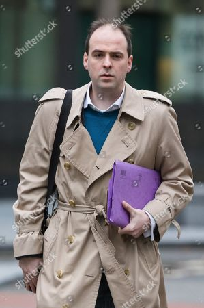 Richard Holden, former special adviser to Michael Fallon, arrives at Southwark Crown Court in London. Holden allegedly attacked a woman in her 20s at a party in London in December 2016. The 32-year-old from south-east London denies a count of sexual assault.