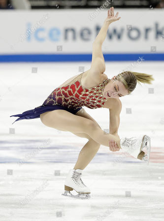 Ashley Wagner performs during the women's short program at the U.S. Figure Skating Championships in San Jose, Calif