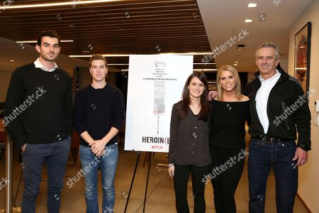 "Conor Kennedy, Finn Kennedy, Elaine McMillion Sheldon, Cheryl Hines, Robert F. Kennedy Jr. Conor Kennedy, Finn Kennedy, Elaine McMillion Sheldon, Cheryl Hines and Robert F. Kennedy Jr. seen at the Netflix special screening of ""Heroin(e)"" hosted by Cheryl Hines, in Los Angeles"
