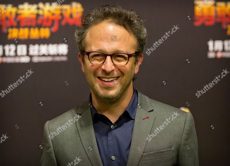 American director Jake Kasdan arrives for a press conference for the movie 'Jumanji: Welcome to the Jungle' in Beijing, . The hit movie opens in China on Jan. 12