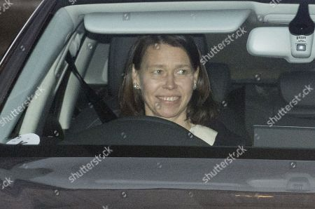 Lady Sarah Armstrong-Jones leaves Buckingham Palace after the Queen's annual royal Christmas Lunch.