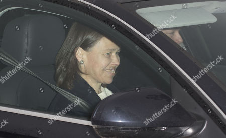 Lady Sarah Armstrong-Jones arrive at Buckingham Palace for the Queen's annual royal Christmas Lunch.