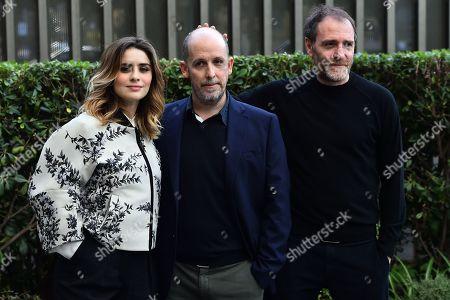 Greta Scarano the director Mattia Torre and Valerio Mastrandrea