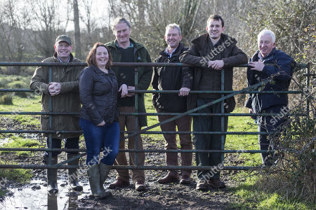 Stock Image of Left to right: Martin Lines (Chairman of NFFN), Sorcha Lewis, Martin Hole, Tony Davies, David Corrie-Close, John Carson. Nature Friendly Farming Network launches uniting farmers across the UK to influence farming policy.