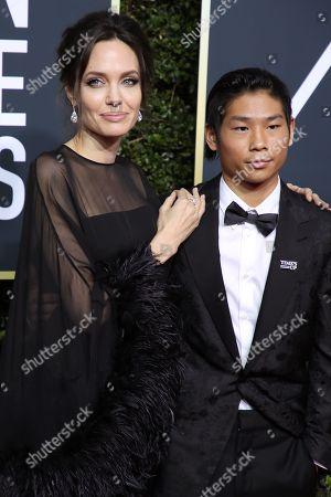 Angelina Jolie and Pax Jolie-Pitt