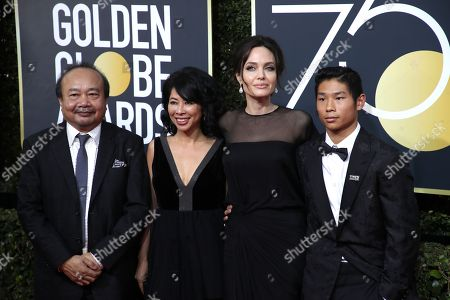Rithy Panh, Loung Ung, Angelina Jolie and Pax Jolie-Pitt