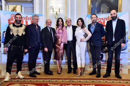 Aurelio De Laurentiis, Ilenia Pastorelli, Carlo Verdone, Maria Pia Calzone and Luigi De Laurentiis