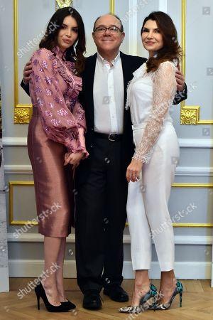 Ilenia Pastorelli, Carlo Verdone and Maria Pia Calzone