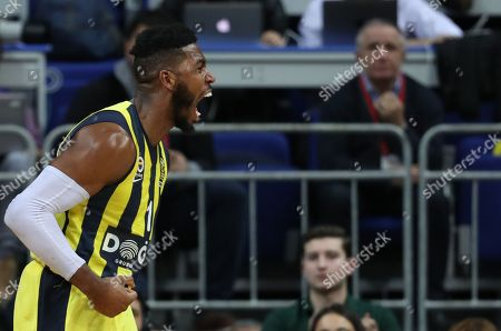 Fenerbahce Dogus' Jason Thompson reacts during the Euroleague basketball match between Fenerbahce Dogus and Baskonia in Istanbul, Turkey 05 January 2018.