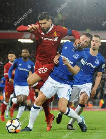 9c7e43ea75f Liverpool's Emre Can, left, and Everton's Ross Barkley during the English  FA Cup Third