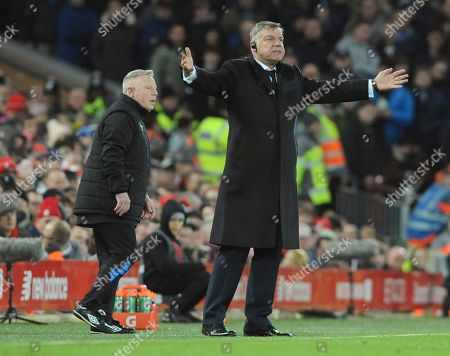 1d3e3b52ff0 Everton manager Sam Allardyce reacts during the English FA Cup Third Round  soccer match between Liverpool