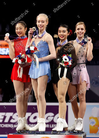 Bradie Tennell, Mirai Nagasu, Karen Chen, Ashley Wagner. Bradie Tennell, second from left, poses after winning the women's free skate event with second place finisher Mirai Nagasu, left, third place finisher Karen Chen, second from right, and fourth place finisher Ashley Wagner at the U.S. Figure Skating Championships in San Jose, Calif
