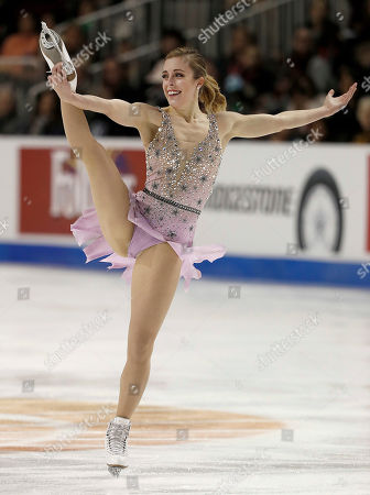 Ashley Wagner performs during the women's free skate event at the U.S. Figure Skating Championships in San Jose, Calif