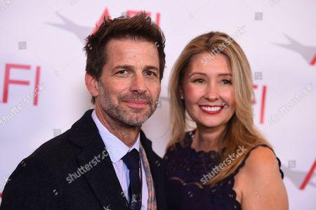 Zack Snyder, Deborah Snyder. Zack Snyder, left, and Deborah Snyder arrive at the 2018 AFI Awards at the Four Seasons on in Los Angeles