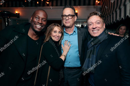 Tyrese Gibson, Stacey Snider, Chairman/CEO, 20th Century Fox, Tom Hanks, CAA's Kevin Huvane