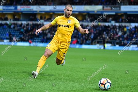 Preston North End midfielder John Welsh (19) pduring the The FA Cup 3rd round match between Wycombe Wanderers and Preston North End at Adams Park, High Wycombe