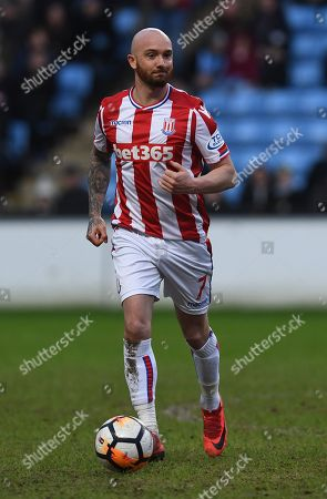 Stephen Ireland of Stoke City during the Emirates FA Cup Third Round match at the Ricoh Arena, Coventry