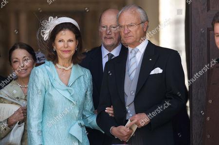 Queen Margarita of Bulgaria, Queen Silvia of Sweden, King Simeon II of Bulgaria and King Carl Gustaf of Sweden