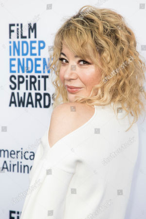 Katherine Castro poses for photographers upon arrival at the 33rd Annual Film Independent Spirit Award Nominee Brunch at BOA Steakhouse, in Los Angeles