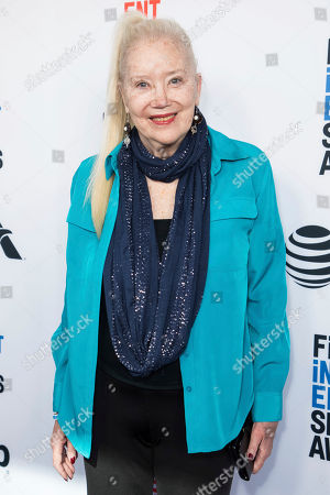 Sally Kirkland poses for photographers upon arrival at the 33rd Annual Film Independent Spirit Award Nominee Brunch at BOA Steakhouse, in Los Angeles