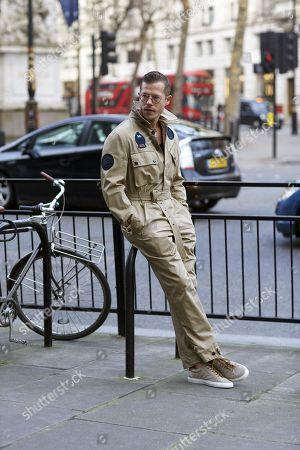 Editorial photo of Street Style, London Fashion Week Men's, UK - 06 Jan 2018