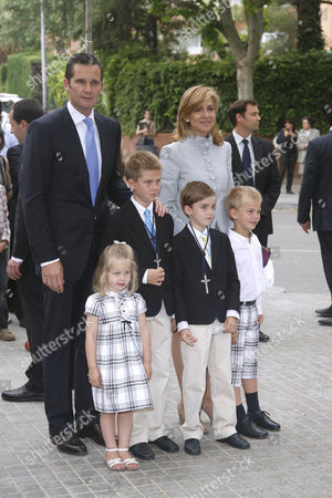 Editorial picture of First communion ceremony for Juan Valentin and Pablo Nicolas Urdangarin, Barcelona, Spain - 23 May 2009