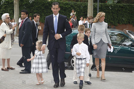 Editorial image of First communion ceremony for Juan Valentin and Pablo Nicolas Urdangarin, Barcelona, Spain - 23 May 2009