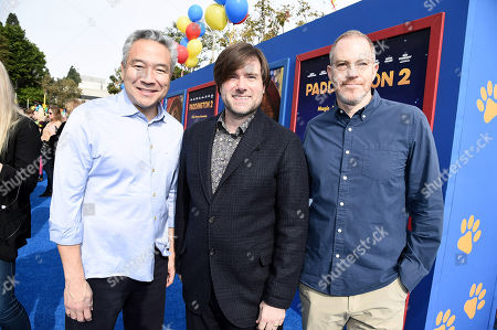 Kevin Tsujihara, Chairman and Chief Executive Officer of Warner Bros., Paul King, Writer/Director, Toby Emmerich, President and Chief Content Officer, Warner Bros. Pictures Group