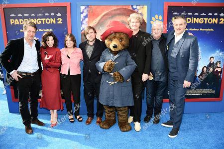 Hugh Grant, Sally Hawkins, Paul King, Writer/Director, Paddington, Simon Farnaby, Writer/Actor, Hugh Bonneville