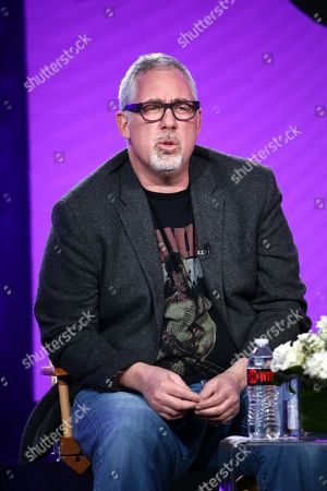 "Brian Koppelman, creator/executive producer, speaks at the ""Billions"" Panel at Showtime TCA Winter Press Tour 2018"
