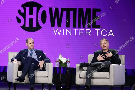 David Nevins, President & CEO of Showtime Networks Inc., and Gary Levine, President of Programing for Showtime Networks Inc., speak at Showtime TCA Winter Press Tour 2018