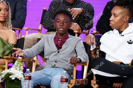 "Alex R. Hibbert and Lena Waithe, creator/executive producer/writer, speak at the ""The Chi"" Panel at Showtime TCA Winter Press Tour 2018"