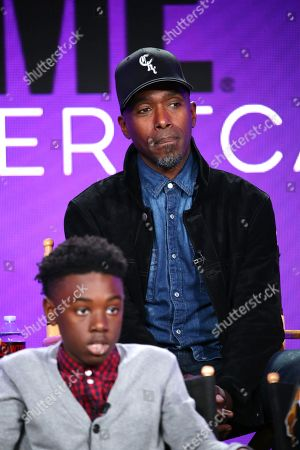 "Alex R. Hibbert and Ntare Guma Mbaho Mwine at the ""The Chi"" Panel at Showtime TCA Winter Press Tour 2018"