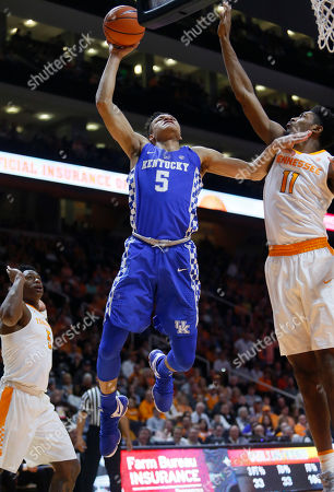 Editorial picture of Kentucky Tennessee Basketball, Knoxville, USA - 06 Jan 2018