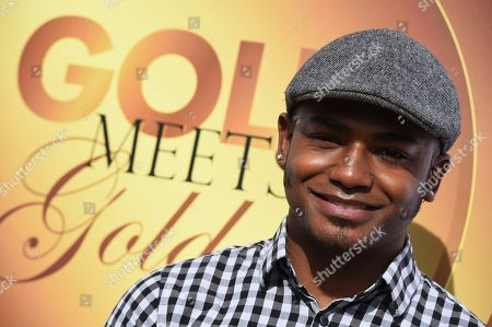 Stock Picture of John Orozco arrives at the 5th Annual Gold Meets Golden event on in Los Angeles