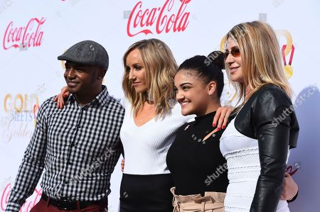Stock Photo of John Orozco, Nastia Liukin, Laurie Hernandez, Nadia Comaneci. From left, John Orozco, Nastia Liukin, Laurie Hernandez and Nadia Comaneci arrive at the 5th Annual Gold Meets Golden event on in Los Angeles