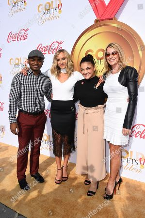 John Orozco, Nastia Liukin, Laurie Hernandez, Nadia Comaneci. From left, John Orozco, Nastia Liukin, Laurie Hernandez and Nadia Comaneci arrive at the 5th Annual Gold Meets Golden event on in Los Angeles