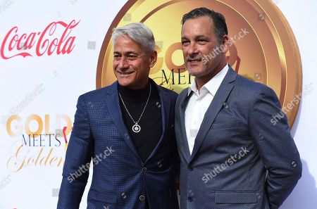Greg Louganis, Johnny Chaillot. Greg Louganis and Johnny Chaillot arrive at the 5th Annual Gold Meets Golden event on in Los Angeles