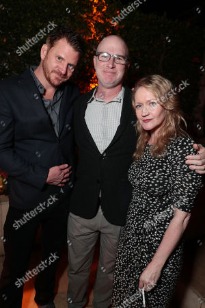 Dash Mihok, David Hollander, writer/director/executive producer of 'Ray Donovan', and Paula Malcomson